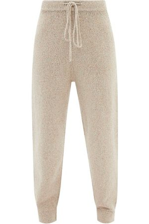 JoosTricot Speckled Cotton-blend Knitted Track Pants - Womens