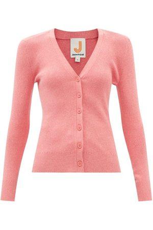 JoosTricot V-neck Ribbed Organic-cotton Blend Cardigan - Womens
