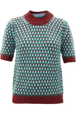 Marni Women Short sleeves - Double-stitched Short-sleeved Sweater - Womens - Multi