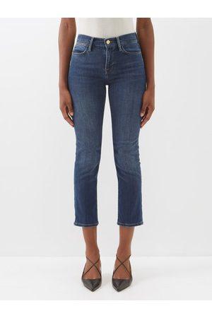Frame Women High Waisted - Le High High-rise Straight-leg Jeans - Womens - Dark Denim