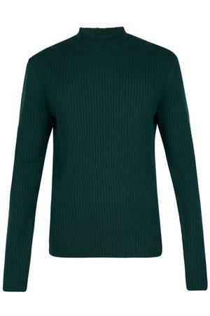 Bottega Veneta Roll-neck Ribbed-cashmere Sweater - Mens - Dark