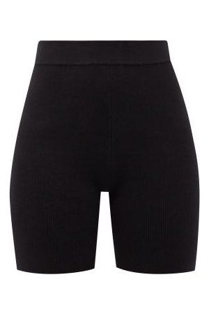 JoosTricot Women Shorts - High-rise Ribbed Cotton-blend Bike Shorts - Womens