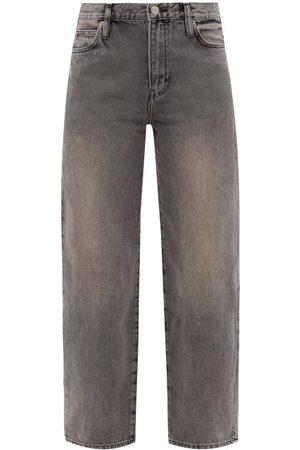 Frame Women High Waisted - Ultra High Washed Barrel-leg Jeans - Womens - Grey