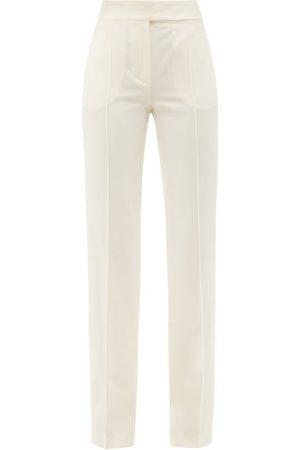 ALEXANDRE VAUTHIER Women Straight Leg Pants - Wool Grain De Poudre Straight-leg Trousers - Womens