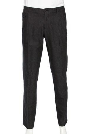 Dolce & Gabbana Men Formal Pants - Cotton Micro Dotted Pants L