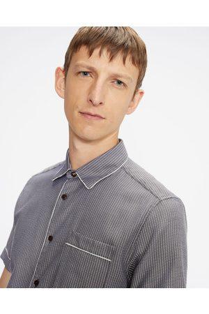 Ted Baker Ss Woven Pattern Shirt