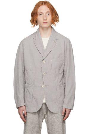 RRL Men Blazers - Grey & White Striped Sport Coat Blazer