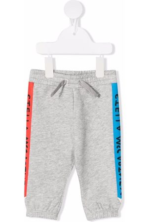 Stella McCartney Side-logo track pants - Grey