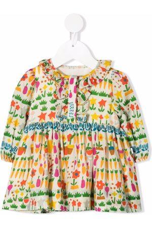 Stella McCartney Allotment ruffled dress - Neutrals