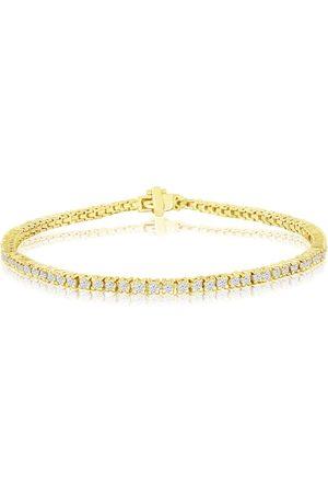 SuperJeweler 2.40 Carat Diamond Men's Tennis bracelet in 14K