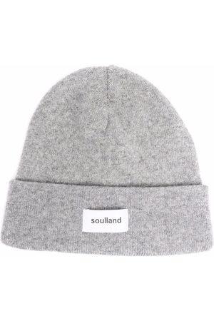 Soulland Beanies - Villy logo-print beanie - Grey