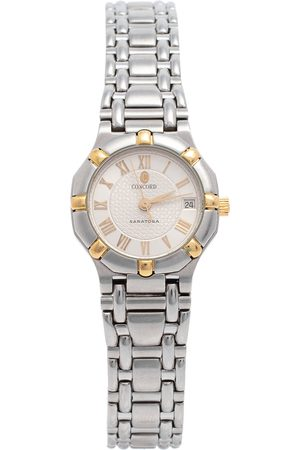 CONCORD Women Watches - Silver Two-Tone Stainless Steel Saratoga 1573287G Women's Wristwatch 23 mm