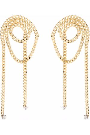 DELFINA DELETTREZ Women Earrings - 18kt yellow Unchain My Art diamond loop earrings
