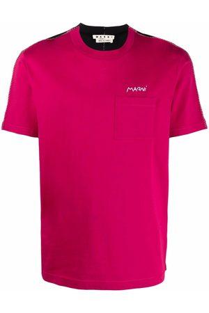 Marni Colour-block logo-print T-shirt