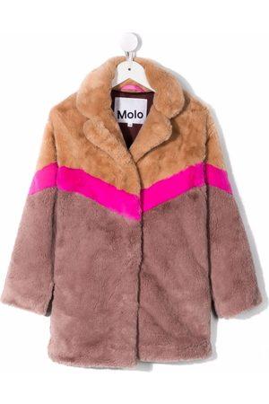Molo Girls Coats - Colour-block panel coat