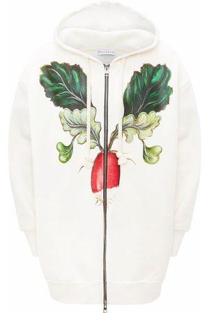 J.W.Anderson Men Hoodies - Veggie print oversized hoodie