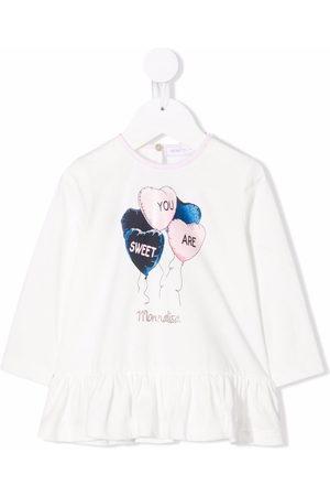 MONNALISA Long Sleeve - Graphic-print long-sleeve T-shirt