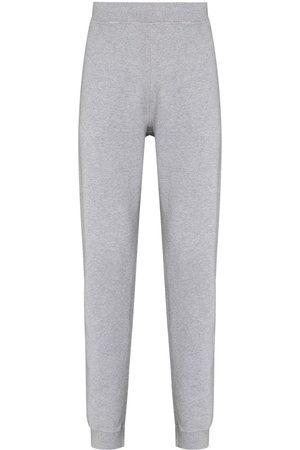 Sunspel Men Sweatpants - Cotton tapered track pants - Grey