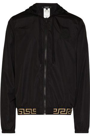 VERSACE Men Sports Jackets - Greca Border hooded lightweight jacket