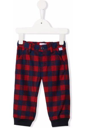 Il gufo Check-print straight leg trousers