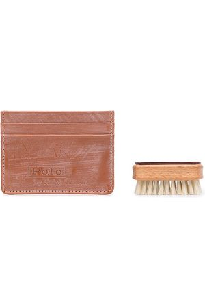 Polo Ralph Lauren Distressed-finish leather card case