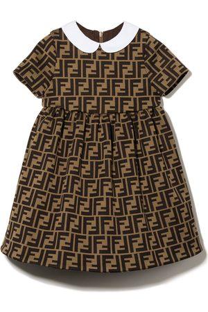 Fendi Baby Casual Dresses - FF-logo short-sleeve dress
