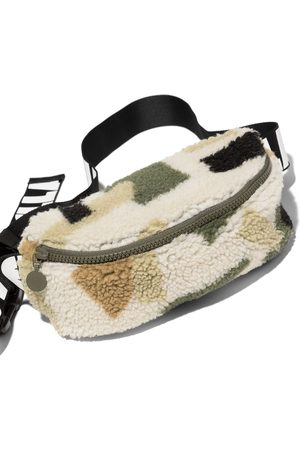 Stella McCartney Kids Boys Bags - Military shearling bum bag - Neutrals
