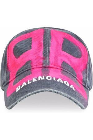 Balenciaga Men Caps - BB spray-paint baseball cap - Grey
