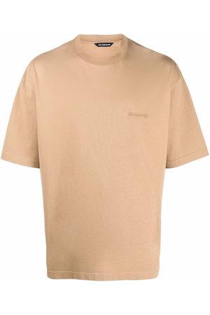 Balenciaga Embroidered-logo T-shirt - Neutrals