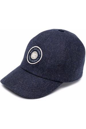 Brunello Cucinelli Boys Caps - Logo-patch virgin wool cap