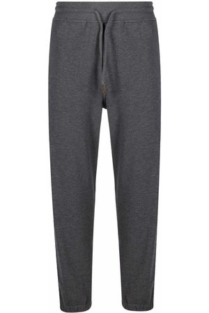 Brunello Cucinelli Contrast piping track trousers - Grey
