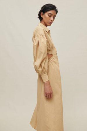 Ghospell Advantage Cutout Shirt Dress