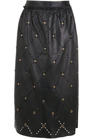 NK Women Leather Skirts - Diana leather midi skirt