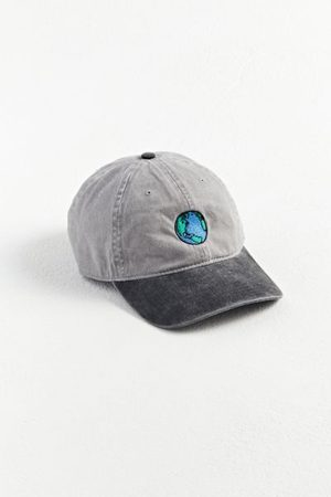 Urban Outfitters Earth Embroidered Washed Baseball Hat