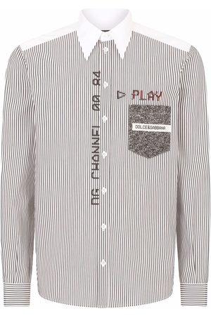 Dolce & Gabbana Pinstripe-pattern long-sleeve shirt