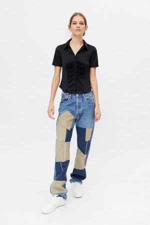 Urban Recycled Utility Patch Jean