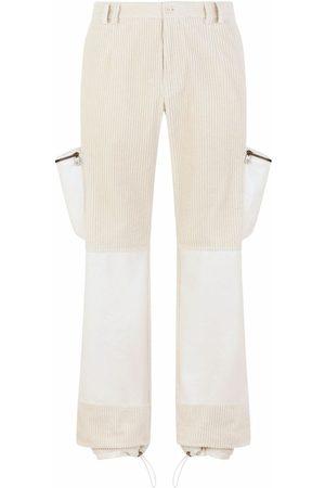 Dolce & Gabbana Men Straight Leg Pants - Multiple-pocket straight-leg trousers