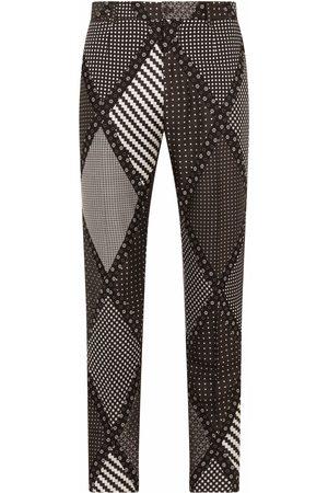 Dolce & Gabbana Men Straight - Multi-print straight-leg jeans