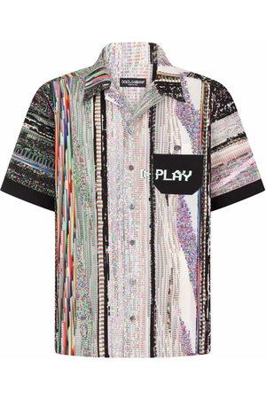 Dolce & Gabbana Men Short sleeves - Graphic-print short-sleeve shirt