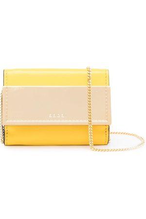 SACAI Women Wallets - Embossed-logo chain wallet