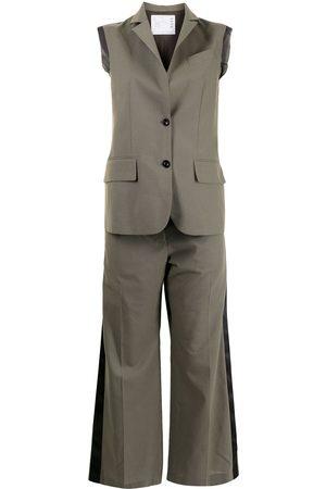 SACAI Women Jumpsuits - Sleeveless tailored jumpsuit