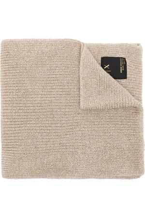 Armani Women Scarves - Glitter-knit scarf - Neutrals