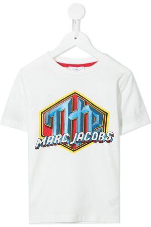 The Marc Jacobs Girls Short Sleeve - Logo-print short-sleeved T-shirt