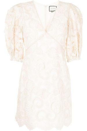 ALEXIS Women Party Dresses - Blanca macramé mini dress