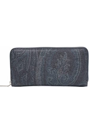 Etro Men Wallets - Paisley-print zipped wallet