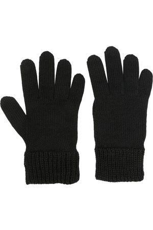 Moncler Boys Gloves - Logo-patch knitted wool gloves