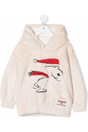 The Marc Jacobs Boys Hoodies - Snoopy embroidered fleece hoodie - Neutrals