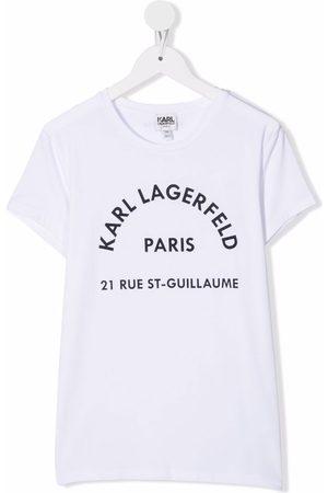 Karl Lagerfeld Short Sleeve - TEEN logo-print short-sleeve T-shirt