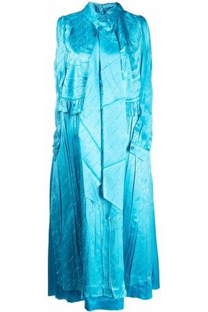 Balenciaga Women Sleeveless Dresses - Crinkled-effect sleeveless dress
