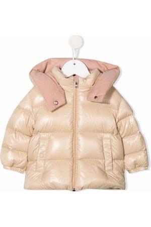 Moncler Puffer Jackets - Metallic hooded puffer coat - Neutrals